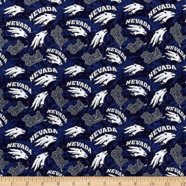 NCAA Nevada Reno Wolf Pack Tone On Tone Cotton Multi Fabric by the Yard
