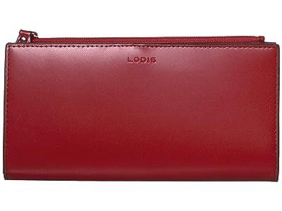 Lodis Accessories Audrey Kinsley Wallet (Red) Handbags