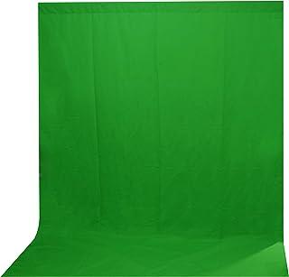 AORO 背景布 緑 2*5M 撮影用 背景シート グリーンバック 映画、ビデオとテレビ、写真に対応 ポリエステル 大サイズ 袋縫いあり