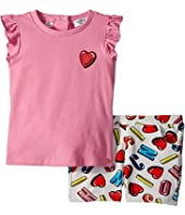 Moschino Kids - Logo Heart Graphic T-Shirt & Shorts Set (Infant/Toddler)