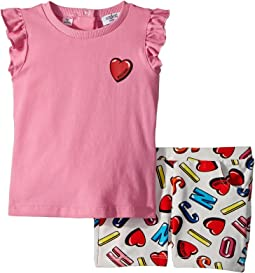 Moschino Kids Logo Heart Graphic T-Shirt & Shorts Set (Infant/Toddler)
