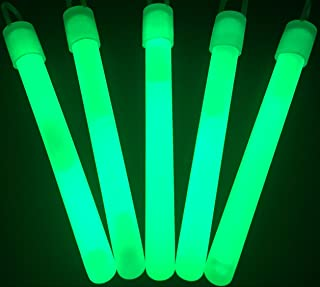 "Glow Sticks Bulk Wholesale, 50 4"" Green Glow Stick Light Sticks. Bright Color, Kids Love Them! Glow 8-12 Hrs, 2-Year Shelf Life, Sturdy Packaging, GlowWithUs Brand"