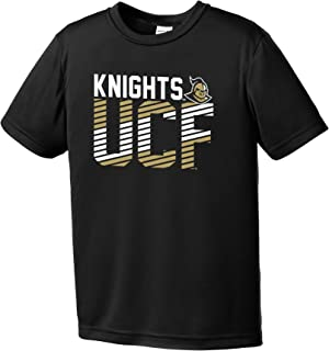 Image One Teen-Boy's NCAA Diagonal Youth Short Sleeve Polyester Competitor T-Shirt Small black