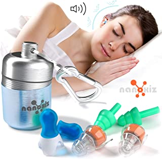 Ear Plugs for Sleeping - Anti Snoring Noise Cancelling Sleep Ear Buds - 3 Pairs Sets of Reusable High Fidelity Silicone Sound Reduction Earplugs for Musicians, Constraction Work, and Swimming
