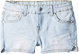 7 For All Mankind Kids Denim Shorts in Cloud Blue (Little Kids)