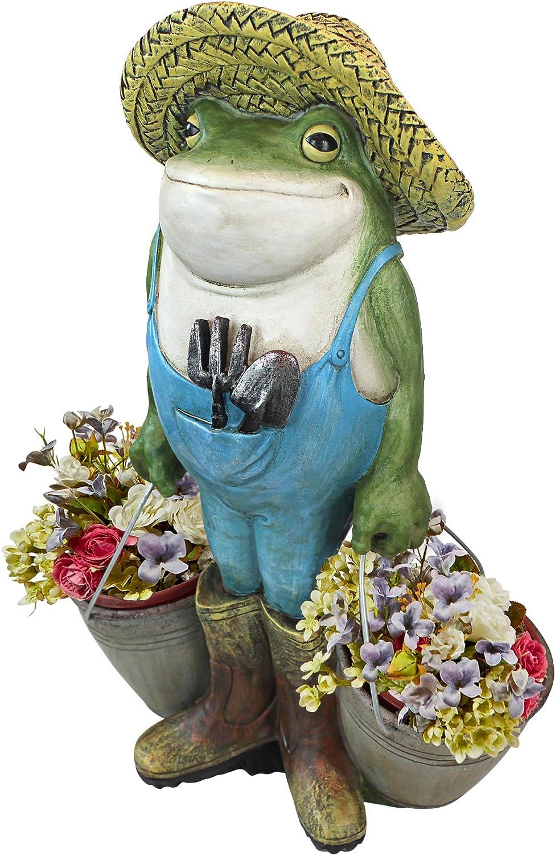 Ranking TOP3 Design Toscano Branded goods HF300718 Buckets The Col Frog Garden Full Statue