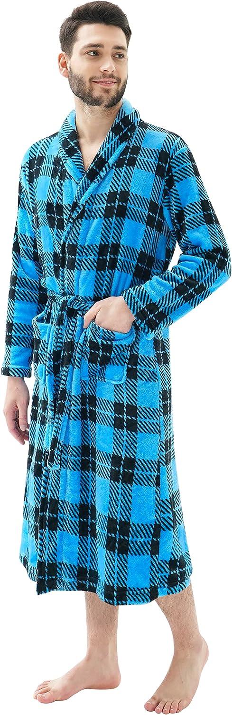 Men's Austin Mall Lightweight Shawl Collar Bathrobe Fleece Max 61% OFF