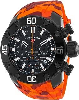 Swiss Legend 10617Sm-Bb-01-Oas Lionpulse Chronograph Orange Camo Silicone Black Dial Watch