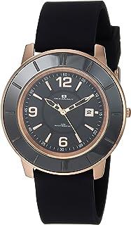 Oceanaut Women's Satin Stainless Steel Quartz Silicone Strap, Black, 18 Casual Watch (Model: OC0813)