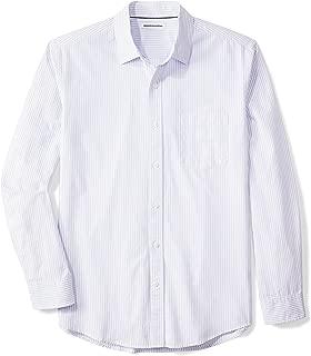 Men's Regular-Fit Long-Sleeve Stripe Casual Poplin Shirt
