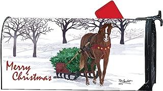 Studio M Christmas 6.5x19 Mailbox Cover MailWrap - 01945 Horse Drawn Sled