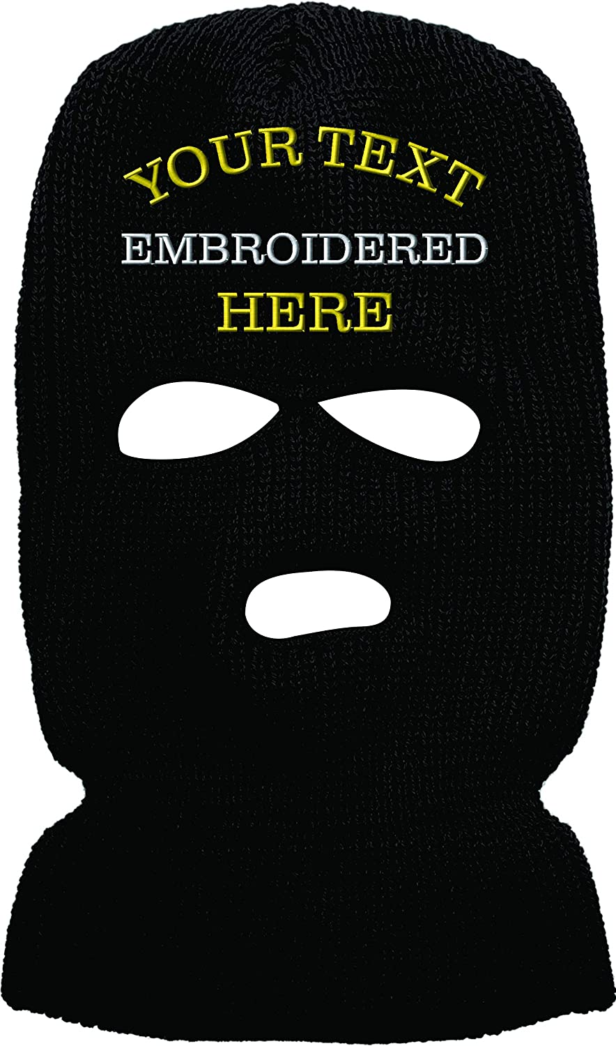 Custom Embroidered 3 Hole Ski Face Masks