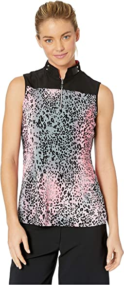 Crunchy Leopard Print Sleeveless Top