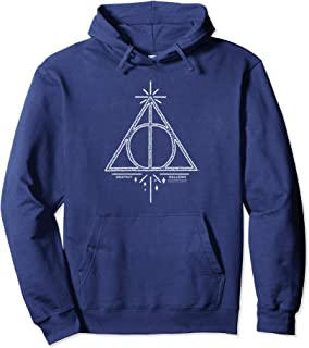 Harry Potter Deathly Hallows Line Art Pullover Hoodie
