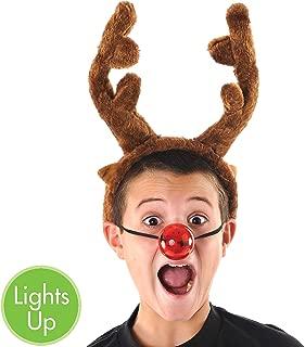 Amscan - Light Up Reindeer Nose