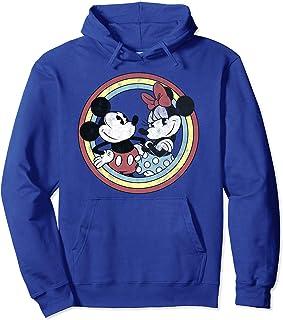 Disney Mickey And Friends Mickey & Minnie Retro Rainbow Sweat à Capuche