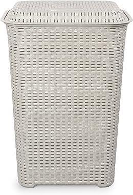 Cello Eliza Plastic Laundry Bag/Basket, 50 litres, Light Grey