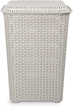 Cello Eliza Plastic Laundry Basket, 50 Liters, Light Grey