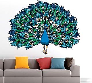 StickMe 'Beautiful - Peacock - King of Birds - Nature - Creative - Colorful Wall Sticker' -SM607 (Multi Colour, Vinyl - 85...