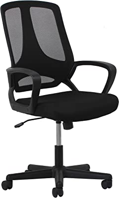 OFM ESS Collection Swivel Mesh High-Back Task Chair with Arms, in Black (ESS-3040)