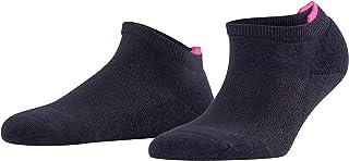 FALKE Sneaker Relax Pads Baumwolle Damen schwarz weiß viele weitere Farben verstärkte Sneakersocken ohne Muster atmungsaktiv dick einfarbig mit Plüschsohle und Noppen aus Silikon 1 Paar