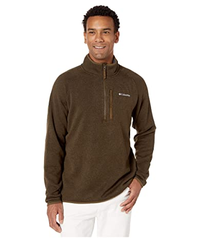 Columbia Canyon Pointtm Sweater Fleece 1/2 Zip (Olive Green) Men