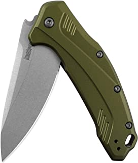 Kershaw Link Folding Pocket Knife, Olive, 3.25 Inch Upgraded CPM 20CV Steel Blade with SpeedSafe Assisted Opening (1776OLSW)