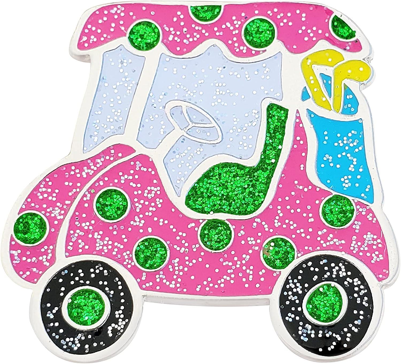 Navika Pink Cutsie Golf Cart Glitzy Ranking TOP3 with Marker Magnetic Louisville-Jefferson County Mall Ha Ball