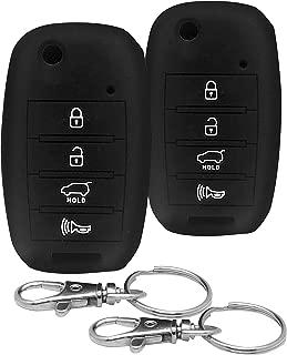 Good Life+Style 2 pcs KIA Silicone Car Key Cover Keyless Entry Remote with Snap Hooks | Kia 4 Button Protector Cases for 2014 2015 2016 2017 2018 2019 Forte Optima Rio Sedona Sorento Soul