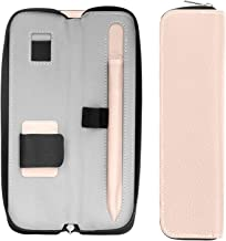 "MoKo Holder Case for Apple Pencil/Apple Pencil 2 2018 Release, PU Case Sleeve Pouch Cover for iPad Air (3rd Generation) 10.5"" 2019/iPad Mini (5th Generation) 7.9"" 2019 (Built-in Pocket), Rose Gold"