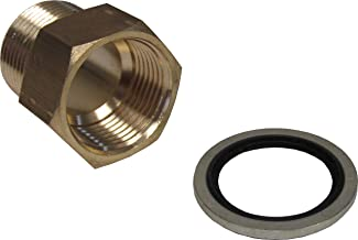 Brass Adapter 1/8 Inch NPT Male X 1/8 Inch BSPP Female With Sealing Washer