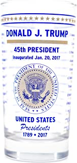US Presidential Collector's Glass - Made in USA - Commemorates ALL United States Presidents