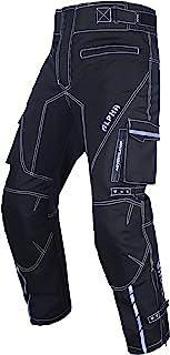 Dirt Bike Motocross Motorcycle Pants for Men hi Vis Armor Riding Racing Dual Sports overpants ATV mx BMX (Black, Waist 36'-38' Inseam 32')