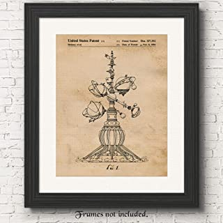 Original Disney Astro Orbiter Ride Patent Poster Prints, Set of 1 (11x14) Unframed Photo, Great Wall Art Decor Gifts Under 15 for Home, Office, Shop, College Student, Teacher, Movies & Theme Park Fan