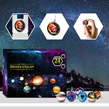 Solar System Making Kit - DIY Science Astronomy Learning Stem Toys Educational Gift for Kids & Teens, Girls & Boys - Universe Galaxy Gift Box Christmas 24 Days Countdown Advent Calendar Countdown
