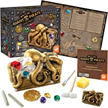 MindWare Dig It Up Discoveries Pirate: Giant Discovery Project for Kids – Dig up 13 Inspiring Charms – Includes a Bonus di...
