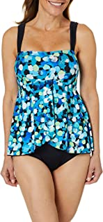 Maxine Of Hollywood Women's Draped Ruffle Front One Piece Swimsuit