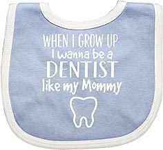 Inktastic Future Dentist Like Mommy Baby Bib Blue/White