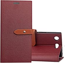 Zhouzl Mobile Phone Leather Cases for Sony Xperia XZ1 Compact Business Style Leather Case with Holder & Card Slots & Wallet(Black) Leather Cases (Color : Red)