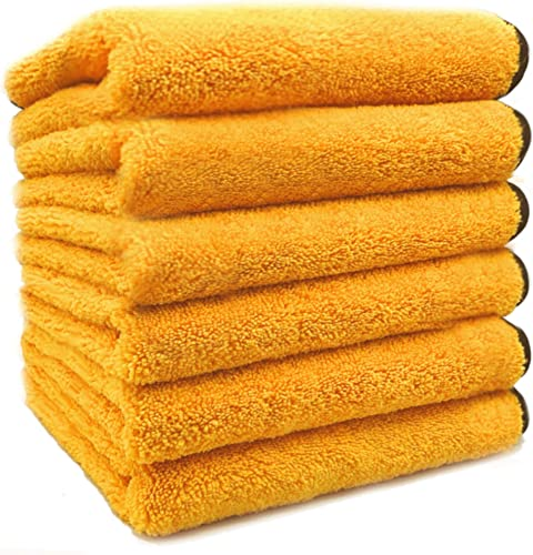"""popular SoLiD 6 Pack Multipurpose Plush Microfiber Edgeless Cleaning new arrival Towel for online sale Household, Car Washing, Drying & Auto Detailing - 16"""" x 24"""" online"""
