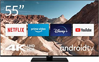Nokia 4K Smart TV 5500A, 55 Smart TV with Android TV operating system, black LED-TV 139cm 55 inch E