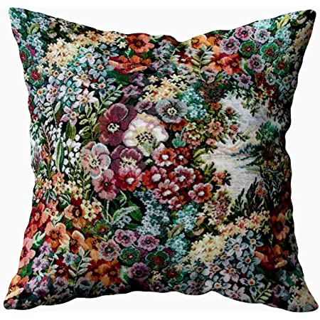 Osborne and Little /'Hanging Garden/' Cushion Floral Linen Pillow Cover 16x16