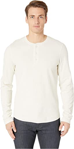 Contrast Double Knit Henley