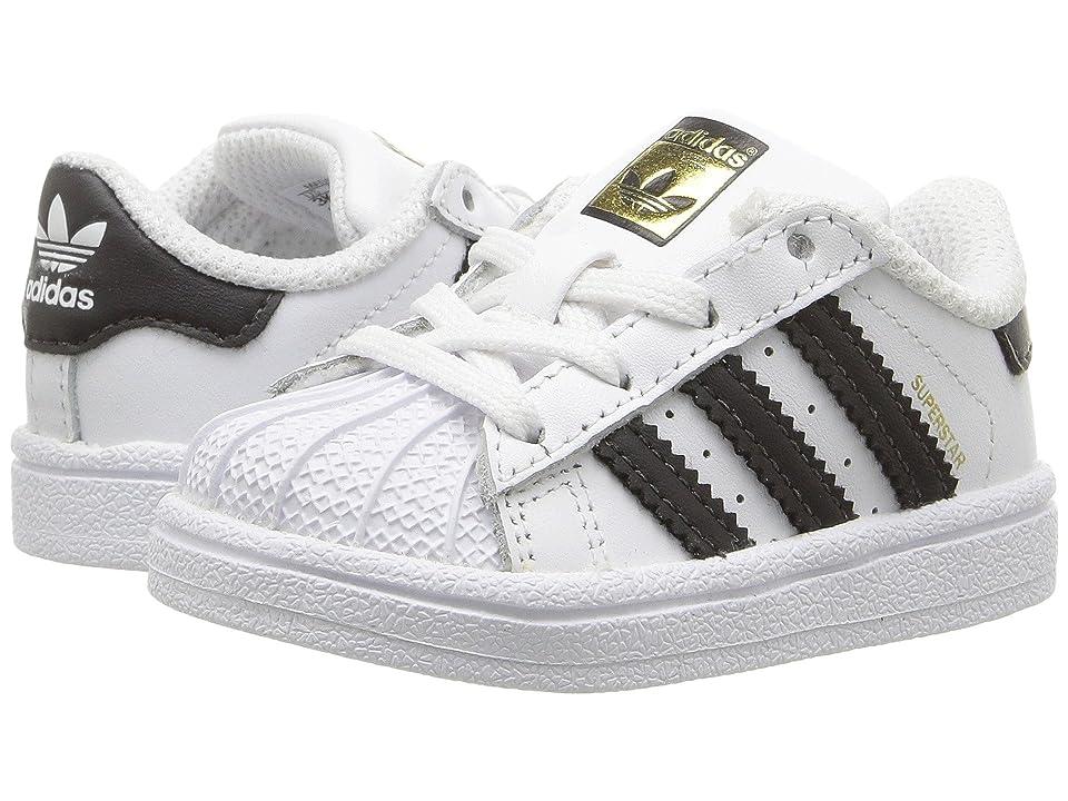 adidas Originals Kids Superstar (Infant/Toddler) (White/Black) Kids Shoes