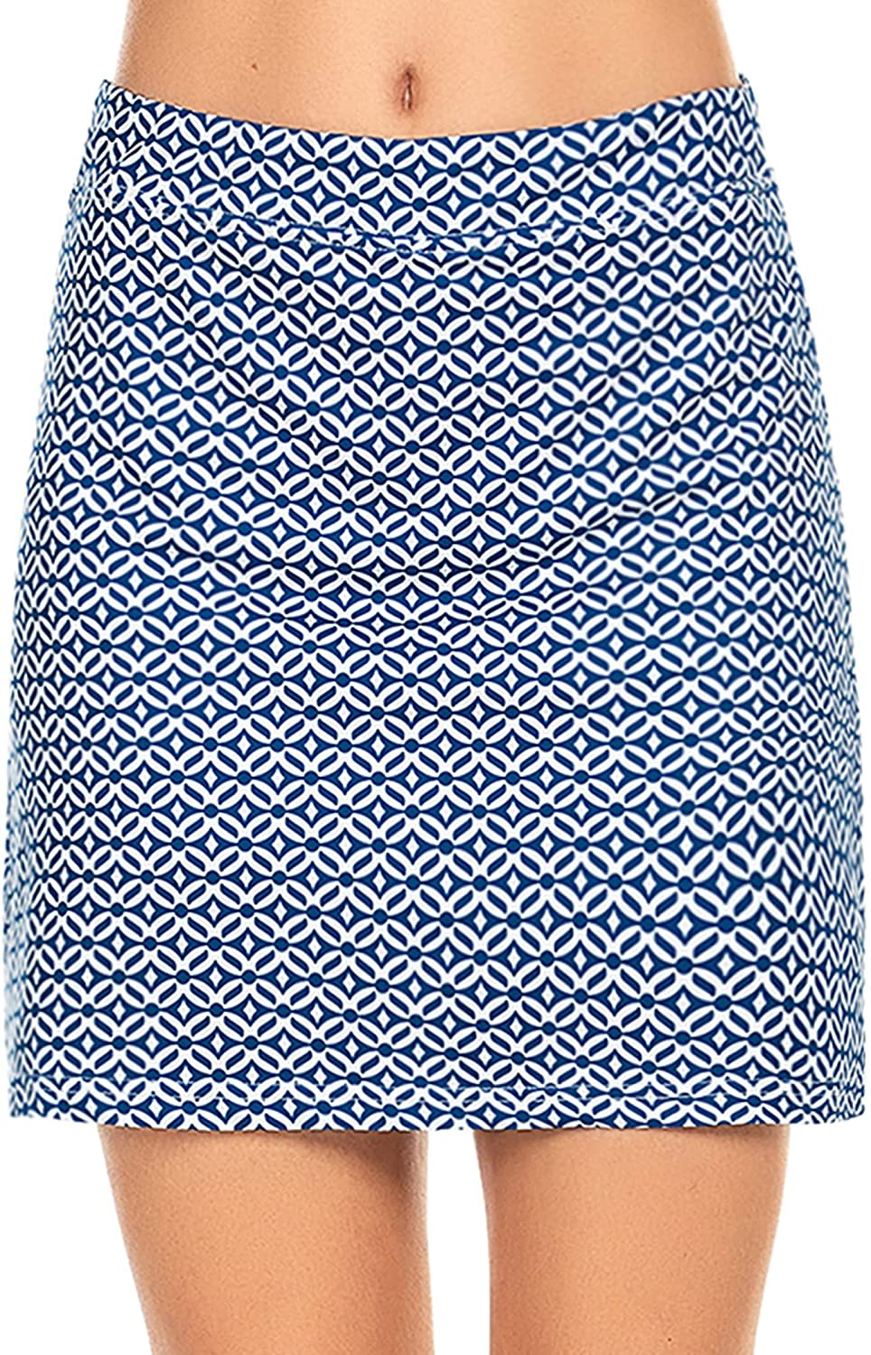 Ekouaer Inventory cleanup selling sale Women's Skorts Pleated Cute Solid Skirts with Col Sales for sale Pocket