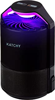 KATCHY Indoor Insect Trap: Bug, Fruit Fly, Gnat, Mosquito Killer - UV Light, Fan, Sticky Glue Boards Trap Even The Tiniest Flying Bugs - No Zapper- (Black)