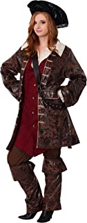 Adult Caribbean Pirate Costume Deluxe Women's Plus Size Pirate Costume