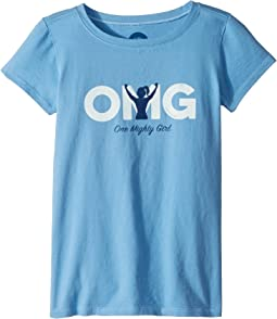 Life is Good Kids - One Mighty Girl Crusher Tee (Little Kids/Big Kids)