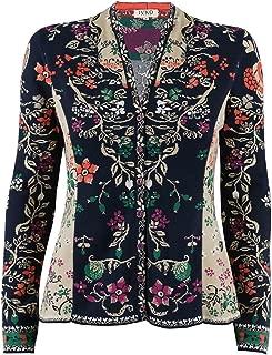 IVKO Floral Pattern Jacket, Marine