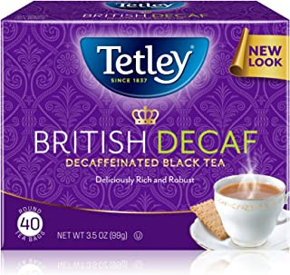 Tetley Premium Black Tea, Decaffeinated British Blend, 40 Tea Bags (Pack of 6)
